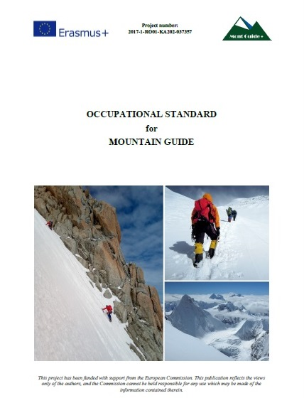 OCCUPATIONAL STANDARD for MOUNTAIN GUIDE
